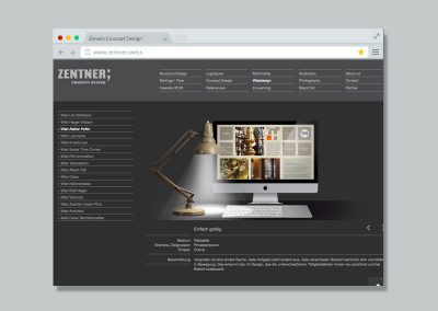 Zentner Concept Design – Website