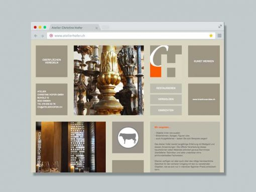 Atelier Hofer – Website