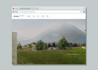Elmiger Architekten – Website