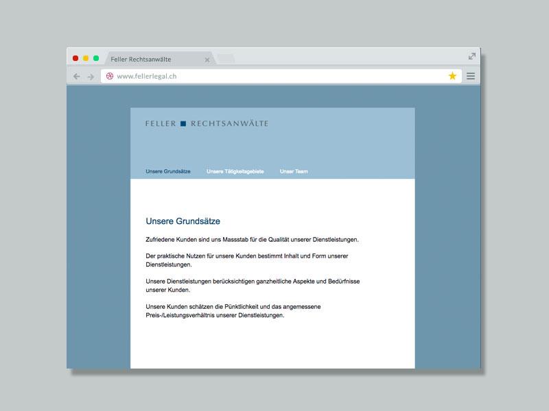 Feller Rechtsanwälte – Website