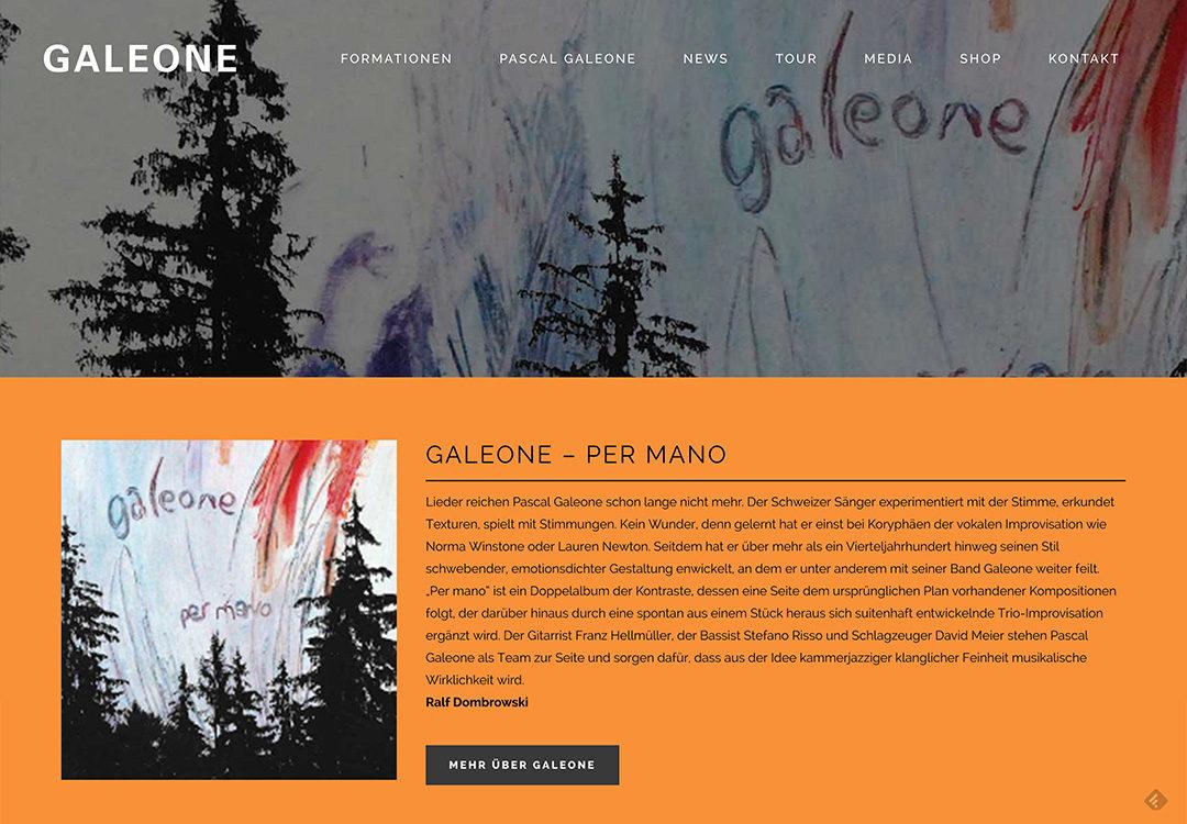 Galeone Jazz Formationen – Website