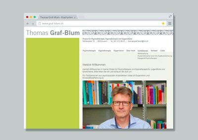 Thomas Graf-Blum Psychotherapeut – Website