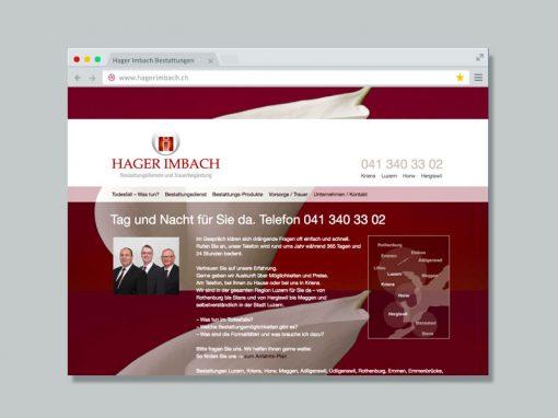 Hager Imbach Bestattungen – Website