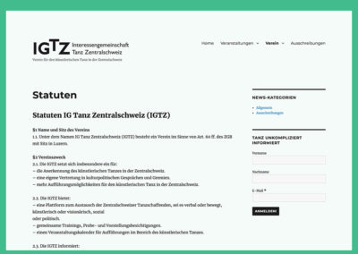 IG Tanz Zentralschweiz – Website