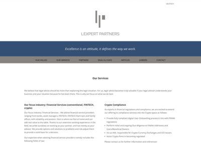 Lexpert Partners – Website