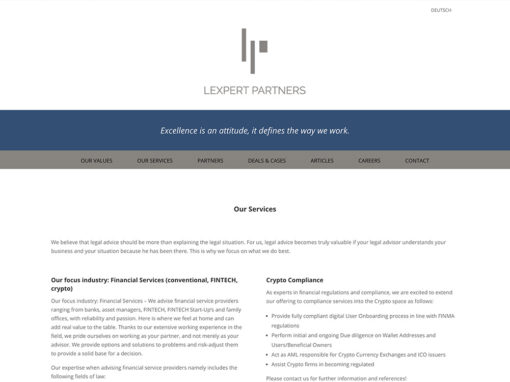 Lexpert Partners – Website