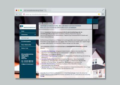 RG Immobilienberatung – Website