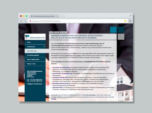 RG Immobilienberatung – Website