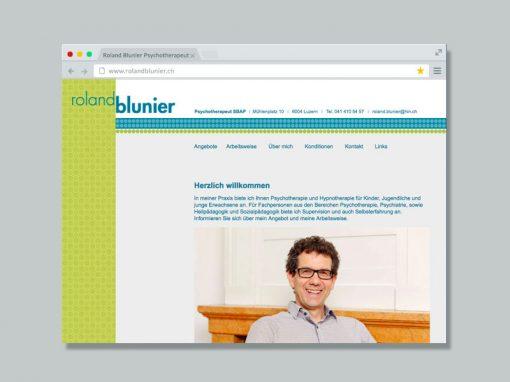Roland Blunier Psychotherapeut – Website