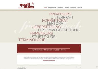 Qualimots Übersetzungen – Website