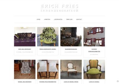 Erich Fries Innendekoration – Website