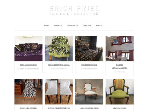 Erich Fries Innendekoration – Website