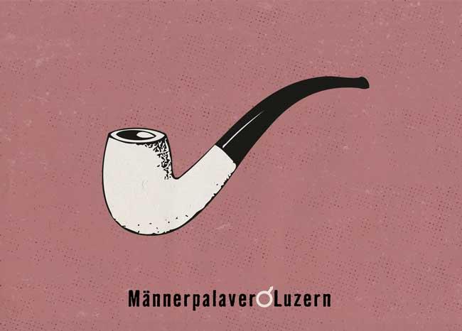 Postkarte für Männerpalaver Luzern