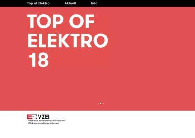 Top of Elektro – Website