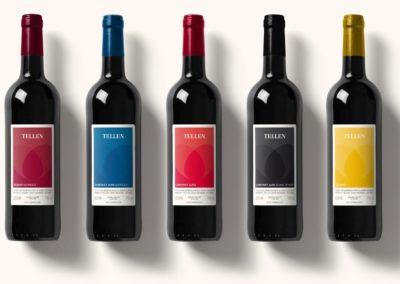 Weinetiketten Weingut Tellen