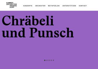 Website Kammerorchester Regensdorf
